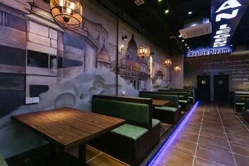 餐馆墙绘效果图
