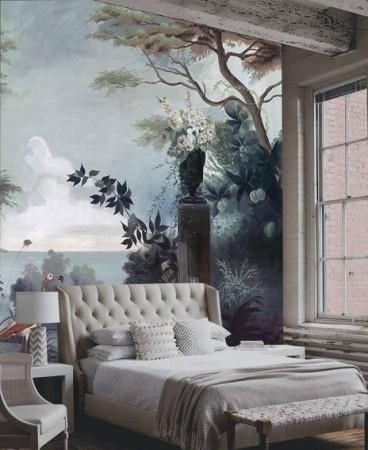 欧式墙绘也有一些简约浪漫的元素